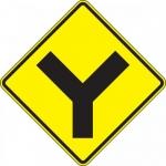 "Accuform FRW635DP, DG High Prism Sign ""Y-Intersection Symbol"""
