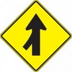 "Accuform FRW640DP, DG High Prism Sign ""Left Lane Merge Symbol"""