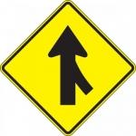 "Accuform FRW642DP, DG High Prism Sign ""Right Lane Merge Symbol"""