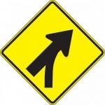 "Accuform FRW648DP, Prism Sign ""Right Lane Entering Roadway Merge"""