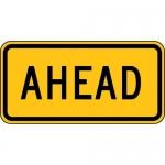 "Accuform FRW714DP, 12″ x 24″ DG High Prism Sign: ""Ahead"""