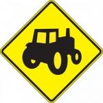"Accuform FRW721DP, 24″ x 24″ DG High Prism Sign: ""Farm Vehicles"""