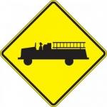 "Accuform FRW727DP, DG High Prism Sign ""Emergency Vehicle Symbol"""