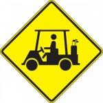 "Accuform FRW731DP, 24″ x 24″ DG High Prism Sign: ""Golf Cart Symbol"""