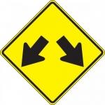 """Accuform FRW736DP, 24″ x 24″ DG High Prism Sign: """"Double Arrow Symbol"""""""
