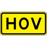 "Accuform FRW760DP, 12″ x 24″ DG High Prism Sign: ""HOV"""