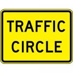 "Accuform FRW762DP, 18″ x 24″ DG High Prism Sign: ""Traffic Circle"""