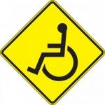 "Accuform FRW775DP, 24″ x 24″ DG High Prism Sign: ""Wheelchair Symbol"""