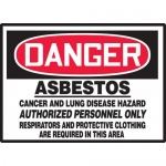 """Accuform LCAW231VSP, Sign """"Asbestos Cancer and Lung Disease Hazard"""""""