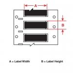Brady 3FR-125-2-BK, Fluid Resistant Wire Marking Sleeve