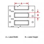 Brady 2HX-375-2-BK, Double Sided Wire Marking Sleeve