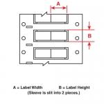 Brady 2HX-187-2-BK-2, Double Sided Wire Marking Sleeve