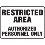 "Accuform MADM923VA, Sign ""Restricted Area Authorized Personnel Only"""