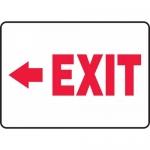 """Accuform MADM927VA, Aluminum Sign """"Exit"""" & Left Arrow Symbol"""