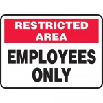 """Accuform MADM964XL, Aluma-Lite Sign with Legend """"Employees Only"""""""