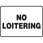 "Accuform MADM971XL, Aluma-Lite Sign with Legend ""No Loitering"""
