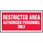 "Accuform MADM972VA, Aluminum Sign ""Authorized Personnel Only"""