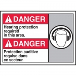 """Accuform MAFC110VP, Bilingual Sign """"Hearing Protection Required…"""""""