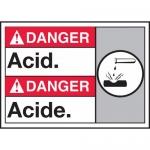 "Accuform MAFC112XL, Aluma-Lite Bilingual ANSI Sign with Legend ""Acid"""