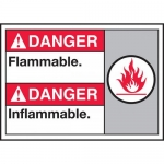 "Accuform MAFC113VP, Plastic Bilingual ANSI Sign ""Flammable"""