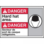 "Accuform MAFC115VP, Plastic Bilingual ANSI Sign ""Hard Hat Area"""
