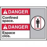 "Accuform MAFC124VP, Plastic Bilingual ANSI Sign ""Confined Space"""