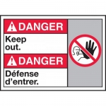 """Accuform MAFC127VP, Plastic Bilingual ANSI Sign with Legend """"Keep Out"""""""