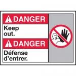 "Accuform MAFC127XL, Aluma-Lite Bilingual ANSI Sign ""Keep Out"""