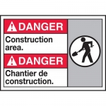 "Accuform MAFC130VP, Plastic Bilingual ANSI Sign ""Construction Area"""
