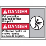"""Accuform MAFC131VP, Bilingual ANSI Sign """"Fall Protection Required…"""""""
