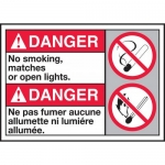 """Accuform MAFC135VP, ANSI Sign """"No Smoking, Matches or Open Lights"""""""