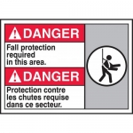 """Accuform MAFC138VP, ANSI Sign """"Fall Protection Required in This Area"""""""