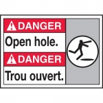 "Accuform MAFC141VP, Plastic Bilingual ANSI Sign ""Open Hole"""