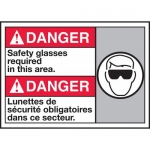 """Accuform MAFC147VP, ANSI Sign """"Safety Glasses Required in This Area"""""""
