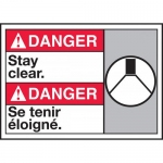 "Accuform MAFC149VP, Plastic Bilingual ANSI Sign ""Stay Clear"""