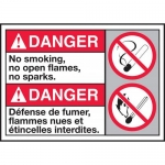 "Accuform MAFC158VA, ANSI Sign ""No Smoking, No Open Flames, No Sparks"""