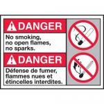 "Accuform MAFC158VP, ANSI Sign ""No Smoking, No Open Flames, No Sparks"""