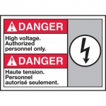 """Accuform MAFC173VP, ANSI Sign """"High Voltage Authorized Personnel Only"""""""