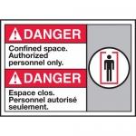 "Accuform MAFC182VP, Plastic Bilingual ANSI Sign ""Confined Space…"""