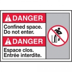 """Accuform MAFC184VP, Bilingual ANSI Sign """"Confined Space Do Not Enter"""""""