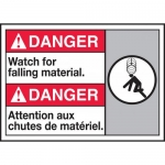 "Accuform MAFC194XP, Bilingual ANSI Sign ""Watch for Falling Material"""