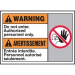 """Accuform MAFC312VP, Sign """"Do Not Enter. Authorized Personnel Only"""""""