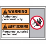 """Accuform MAFC314VP, ANSI Sign """"Warning Authorized Personnel Only"""""""