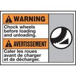 "Accuform MAFC386VP, Plastic Bilingual ANSI Sign ""Chock Wheels…"""