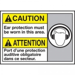 """Accuform MAFC615VP, Bilingual Sign """"Ear Protection Must Be Worn…"""""""