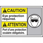 """Accuform MAFC617XL, Bilingual ANSI Sign """"Eye Protection Required"""""""