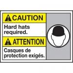 "Accuform MAFC618VP, Plastic Bilingual ANSI Sign ""Hard Hats Required"""