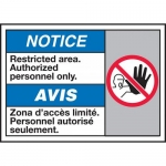 "Accuform MAFC811XP, Sign ""Restricted Area Authorized Personnel Only"""