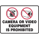 """Accuform MASE505XF, Sign """"Camera or Video Equipment is Prohibited"""""""