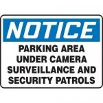 "Accuform MASE804XF, OSHA Sign ""Parking Area Under Surveillance…"""